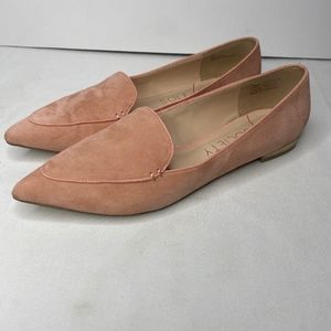 Sole Society Faux Suede Pink Pointed Flats